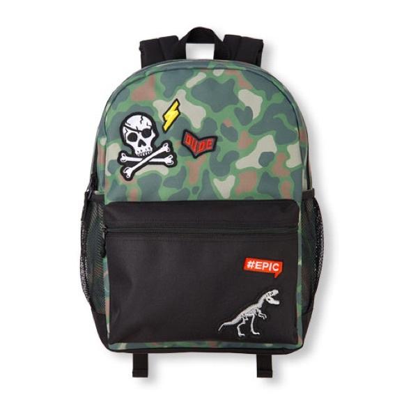 2bce68b76d Boys Patch Camo Colorblock Backpack